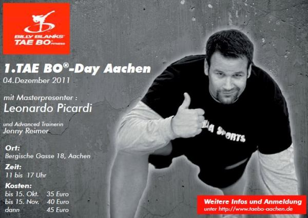 04.12.2011 &#8211; TAE BO-Day 2011 mit Masterpresenter Leonardo Picardi